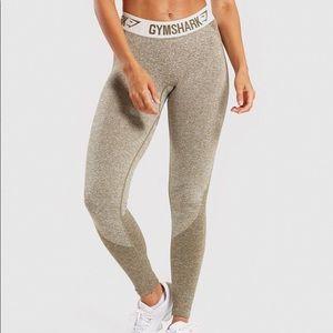 Gymshark Flex Leggings Khaki Sand Size L